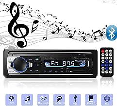 Aigoss Bluetooth Car Stereo, 4x60W Car Audio FM Radio, MP3 Player USB/SD/AUX Hands Free Calling with Wireless Remote Control