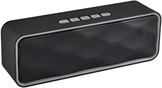KJRJL Wireless Bluetooth Speaker, Bluetooth 4.0 Speaker, Handsfree Call Speaker Outdoor Stereo Speaker with HD Audio and Enhanced Bass with FM Radio Function (Color : Gray)