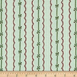 FreeSpirit Fabrics Verna Mosquera Peppermint Rose Ribbons & Bows, Pine