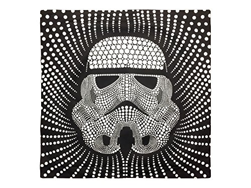 "Star Wars Storm Trooper Dots Square 26"" x 26"" Euro Sham with Flange, Black/White"