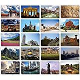 40 Pack Assorted Travel Postcards in 20 Designs, Around The World, 4x6 inches