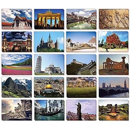 Best Paper Greetings 2 Lot de cartes postales du monde entier