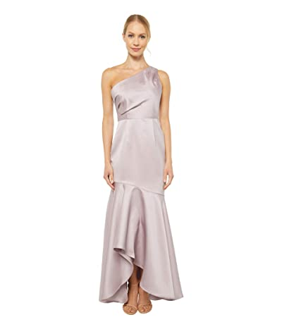 Adrianna Papell Petite Mikado Long Gown (Marble) Women