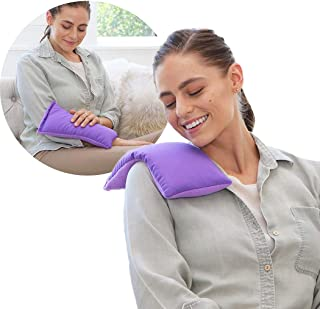 My Heating Pad Microwavable for Cramps and Lower Back Pain   Perfect Moist Heat Therapy Pack for Menstrual, Neck and Shoul...