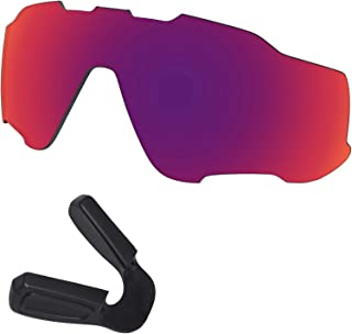 Predrox Jawbreaker Lenses & Nose Pieces Replacement for Oakley Sunglasses Polarized