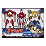Avengers- Marvel Titan Hero Series Iron Man Combat Pack Figura articulada, Multicolor...