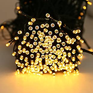 LED String Light Quntis® 300 LEDs 40M Warm White Waterproof 8 Multi-Function Indoor Battery Operated String Fairy Lights Ideal for Garden Outdoor Camping Wedding Christmas Tree Birthday Party Valentine's Day - Warm White:Schedulingsoftware