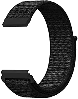 @ccessory 22mm Nylon Sport Watch Band Breathable Adjustable Strap For Samsung Galaxy Watch 46mm / Gear S3 Frontier Classic (Black)