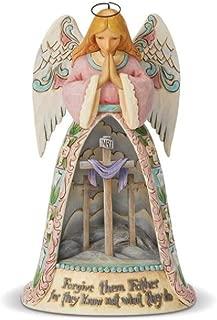 Enesco Jim Shore Heartwood Creek Angel with Cross Diorama Scene