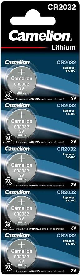 Camelion Cr2032 Bp5 Lithium Knopfzelle 3v 5er Pack Elektronik