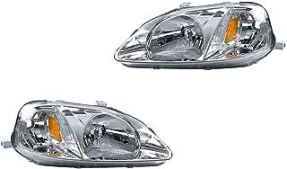 Par de Faros DEPO Compatible con Honda Civic 1999-2003