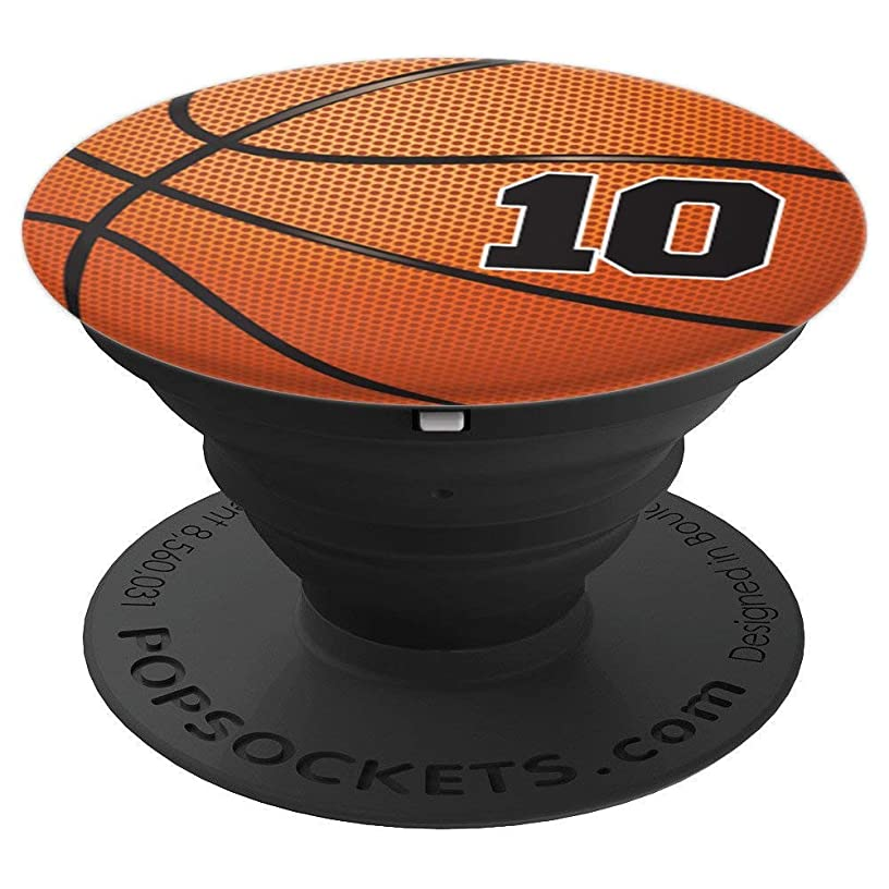 Basketball Fan #10 Jersey No 10 Basketball Pop grips Gift - PopSockets Grip and Stand for Phones and Tablets