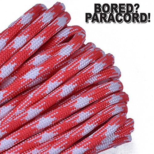 Bored Paracord Brand 550 lb Type III Paracord  Strawberry Fields 100 Feet