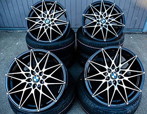 4 x 19 Zoll Axxion AX9 Competition Alu Felgen schwarz hochglanzpoliert für 3er E36 E46 E90 E91 E92 E93 F30 F31 4er F32 F33 F36 M4 335 435 M-Paket M-Performance CSL NEU
