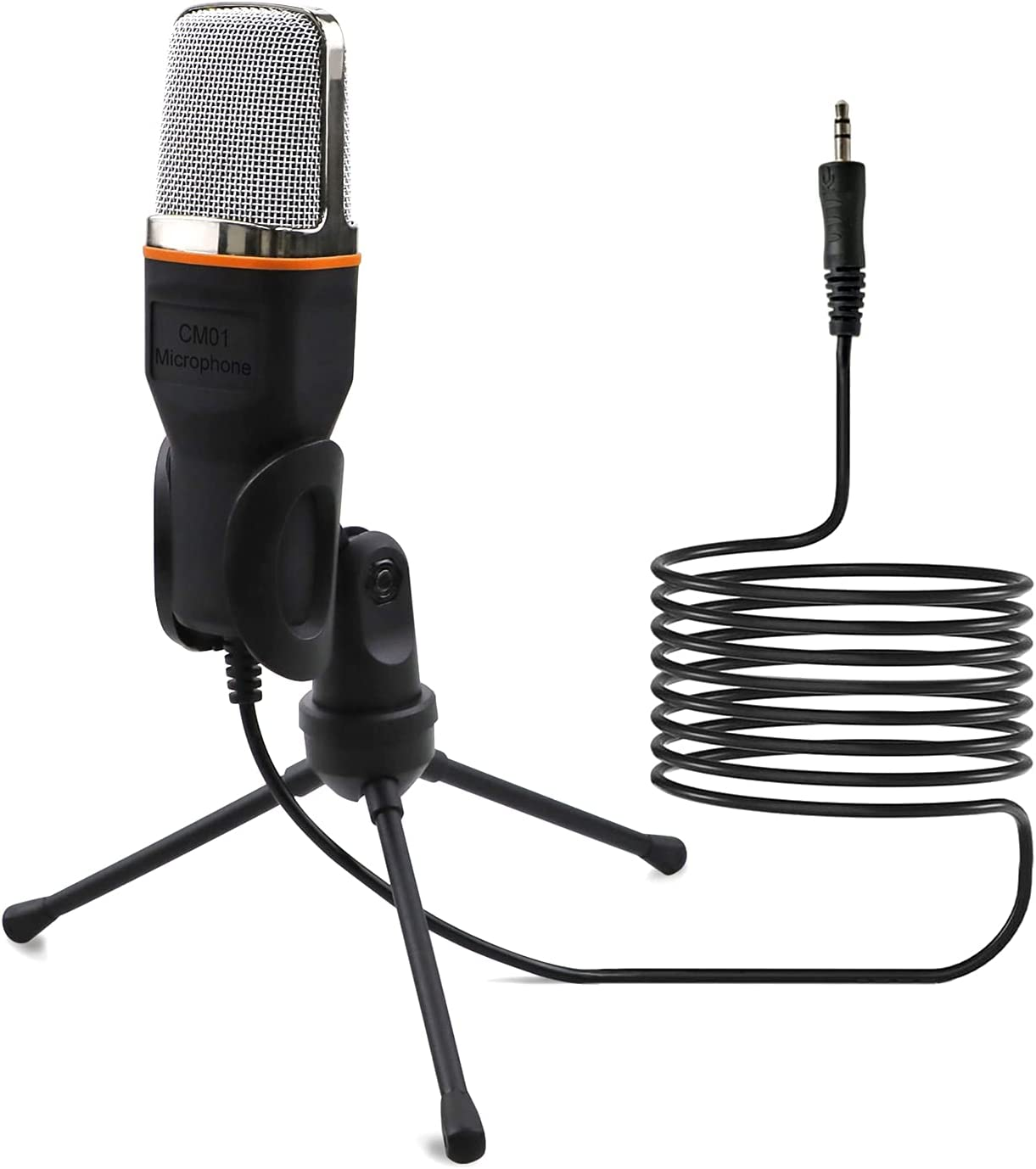 Fashionable Topics on TV Irishom Microphone Wired Condenser with 3 3.5mm Audio