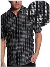 Jhane Barnes Black with Silver Grey Pavings Sport Shirt