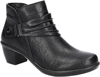حذاء برقبة حتى الكاحل Damita للسيدات من Easy Street، أسود، عرض 9.5