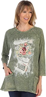 Women's Matilda Cypress Mineral Washed Patch Pocket Cotton Tunic