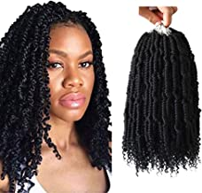 14 inch Fluffy Spring twist crochet hair 4 pack Crochet braids black Synthetic crochet spring twist curl end