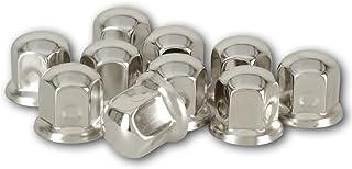 20 Stück LKW Radmutterkappen, universell, Schlüsselweite 33mm, aus Edelstahl~