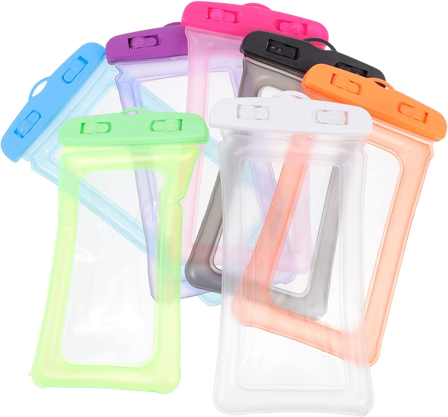 Hemobllo 7pcs Phone Waterproof Bag Simple and Durable Touch Screen Cellphone Dry Bags