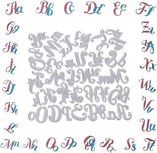 VINFUTUR Matrices de découpe Alphabet Lettre Découpes Scrapbooking Cutting Dies Matrice de Découpes Pochoirs Album Mariage...