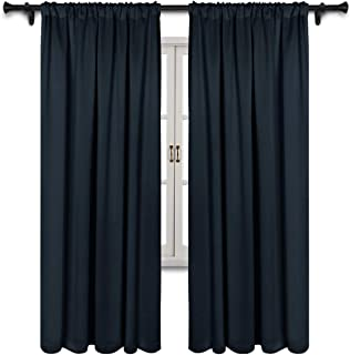 SUO AI TEXTILE Room Darkening Curtains Thermal Insulated Drapes Rod Pocket Energy Efficient Window Curtains 2 Panels,Set of 2,37