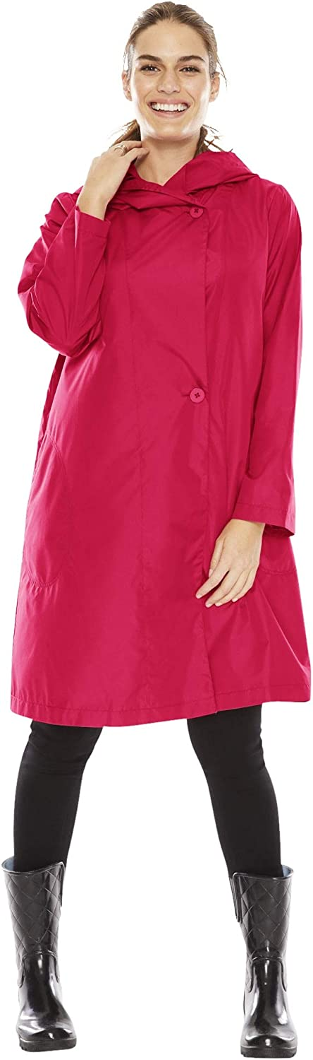Woman Within Regular discount Women's Plus Hooded Packable Raincoat Purchase Size