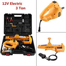 New 3 Ton 12V Electric Scissor Car Jack with Controller Lift Impact Wrench DC Automotive -Excellent Stability