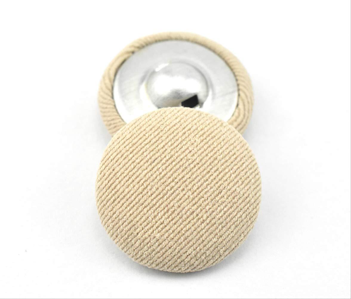 Botón de tela camisa negra traje pequeño abrigo abrigo bolso botón decoración ropa botón diámetro 10 mm caqui claro [6 botones para enviar costura]: Amazon.es: Hogar