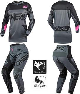 O`Neal Element Racewear Pink Kids/Youth motocross MX off-road dirt bike Jersey Pants combo riding gear set (Pants 5/6 (22)...