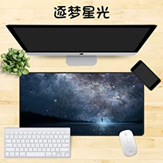 Thick 5 Mm-l 100x50cm 39x20inch 7/% Extended Mat Desk Pad Cloth Surface Long Not-Slip Desk Pad Protector Large Area for Keyboard and Mouse DM/&FC Large Gaming Mouse Pad