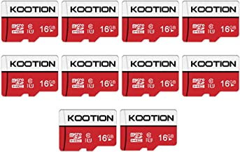 KOOTION 16GB Micro SD Card Ultra Micro SDXC Memory UHS-I Card Class 10 High Speed TF Card R Flash, C10, U1, 16 GB (10 Pack)