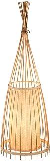 Lampadaire sur Pied Salon Lampe de plancher en bambou traditionnelle créative, lampe de sol de l'abat-jour de protection d...