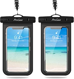 ProCase Waterproof Phone Pouch, Universal Cellphone Dry Bag for iPhone 13 12 11 Pro Max iPhone XR/X/8/7/6S, Underwater Cas...