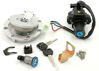 Alpha Rider Ignition Switch Fuel Gas Petrol Tank Cap Cover Lock Key Set for Honda CBR600RR F5 2003-2006 CBR929RR 2001-2002 CBR954RR 2002-2003
