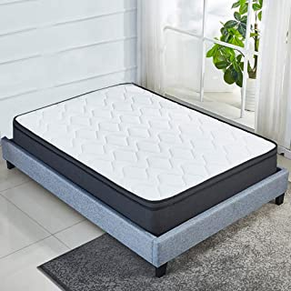 Luxury Euro Top 10 Inch Memory Foam Mattress Pocket Spring Coils,Firm but Comfortable,Soft Cotton Knitted Cover,CertiPUR-US Certificated (Queen)