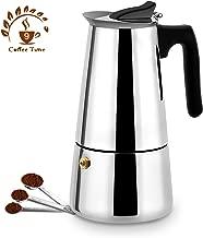 Stovetop Espresso Maker,Moka pot, Espresso Machine,Stainless Steel Espresso Machine for 9 cups (450 ml),Italian coffee maker Espresso and Coffee Maker for for Gas or Electric Ceramic Stovetop