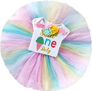 Birthday Outfit Newborn Baby Girl Romper+Tulle Skirt+Flower Headband Cake Smash Princess Dress Up 3Pcs Clothes Set