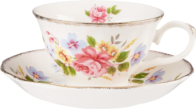 Grace outlet Teaware Porcelain Vintage Floral Cup 8-Ounce Tea half Assorted