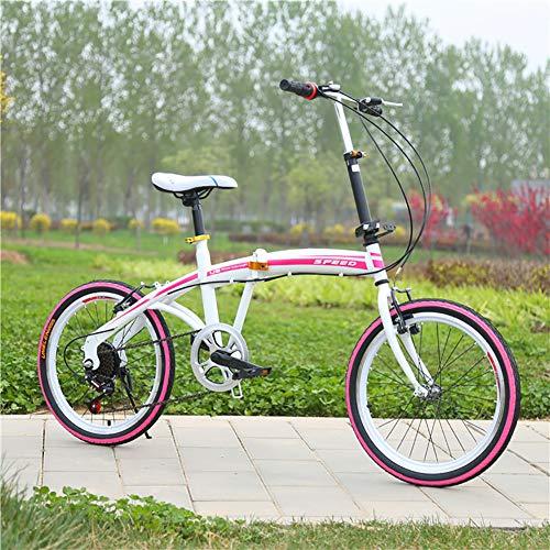 """GDZFY Mini Kompakte City Bicycle Für Männer Frauen,20\"""" Faltfahrrad 7 Gang-schaltung,Fahrrad Für Urban Riding Pendeln F 20in"""