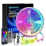 LED Strip 10M, Gaoxun RGB LED Streifen Steuerbar via App und Fernbedienung, Smart Farbwechsel...