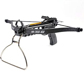 KingsArchery Crossbow Pistol with Bolt Rack Self-Cocking 80 LBS with Adjustable Sights, 3 Aluminum Arrow Bolts, and Safety Feature