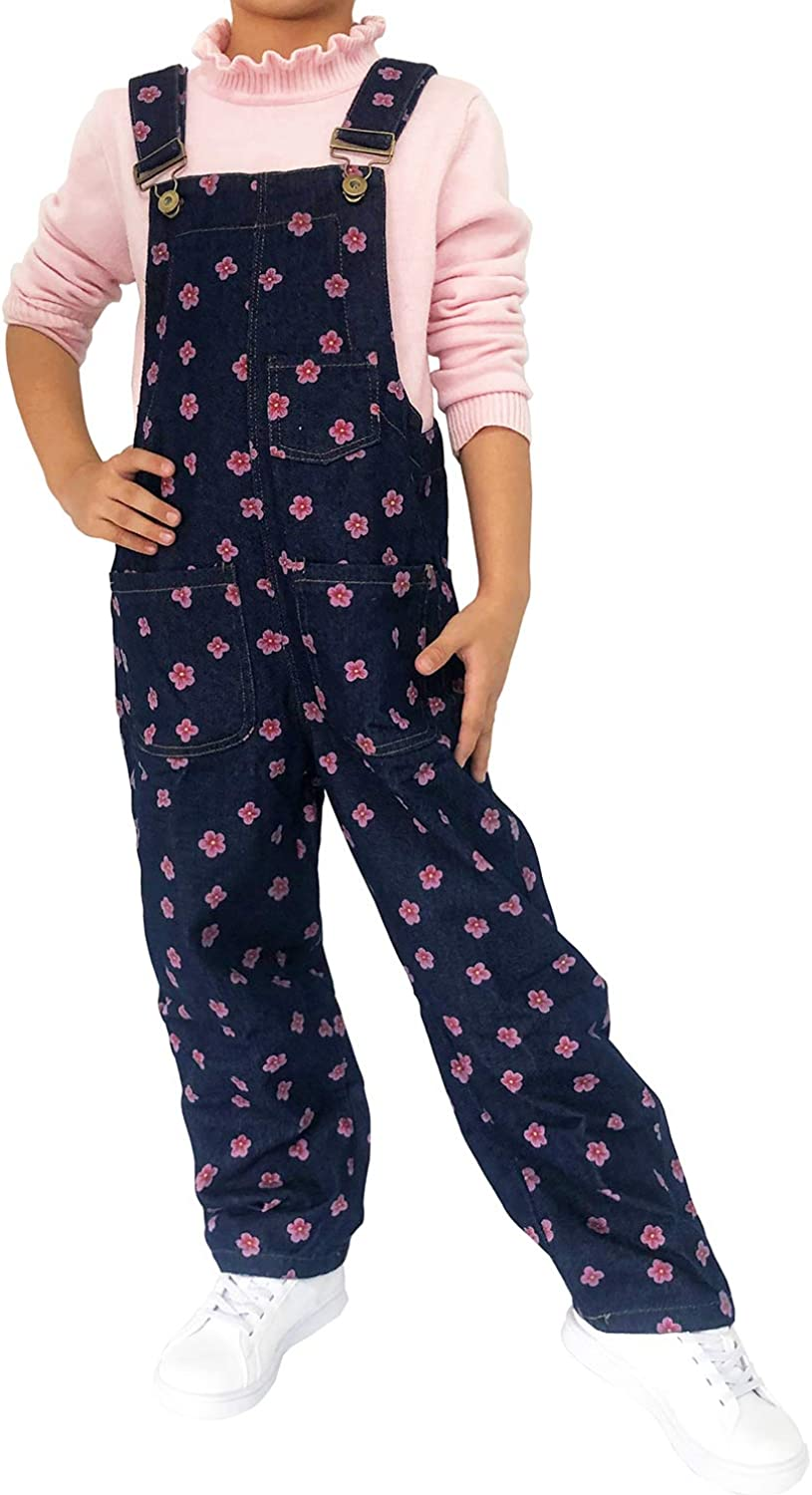 Peacolate 3-14Years Fresno Mall Big Girls Overalls JumpsuitRompers Blue Den Animer and price revision