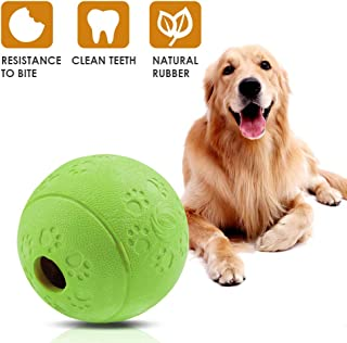 AriTan Interactive Food Dispensing Dog Rubber Toy Ball,Large 3.2