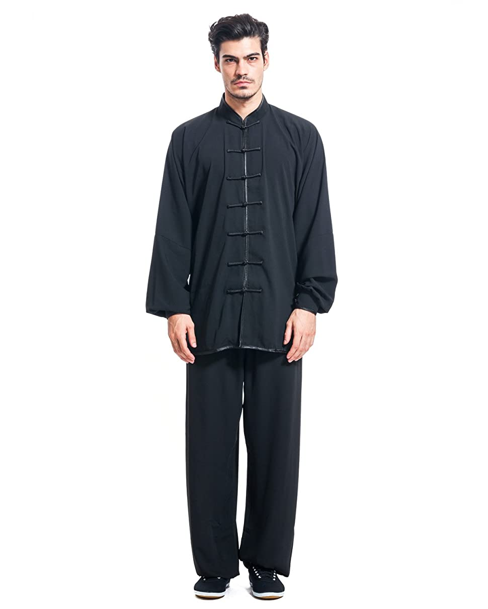 ICNBUYS Men's Kung Fu Tai Chi Uniform Cotton Silk