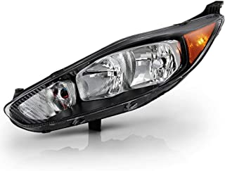 ACANII - For 2014-2018 Ford Fiesta S SE ST Black Housing Headlight Headlamp Assembly Replacement Left Driver Side