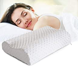 AAROHI ENTERPRISE Memory Foam Pillow,Cervical Pillow for Neck Pain,Orthopedic Contour Pillow Support for Back,Stomach,Side Sleepers,Anti-Snoring Relief Neck Pillow,Anti-Allergy,Pillow for Pain Relief