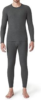 LAPASA Men's Waffle Knit Thermal Underwear Shirt & Pants Set Cotton & Spandex Microfiber Soft Base layer Long Johns (Therm...