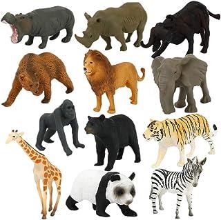 12 Pcs Simulate Animal Toy Kids Ocean Animals Dinosaur Toys Gift